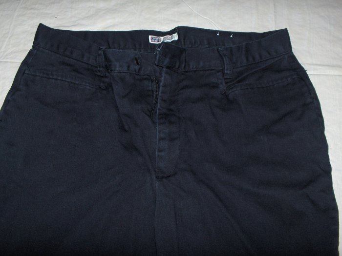 Faded Glory Stretch black pants flat front 12 petite