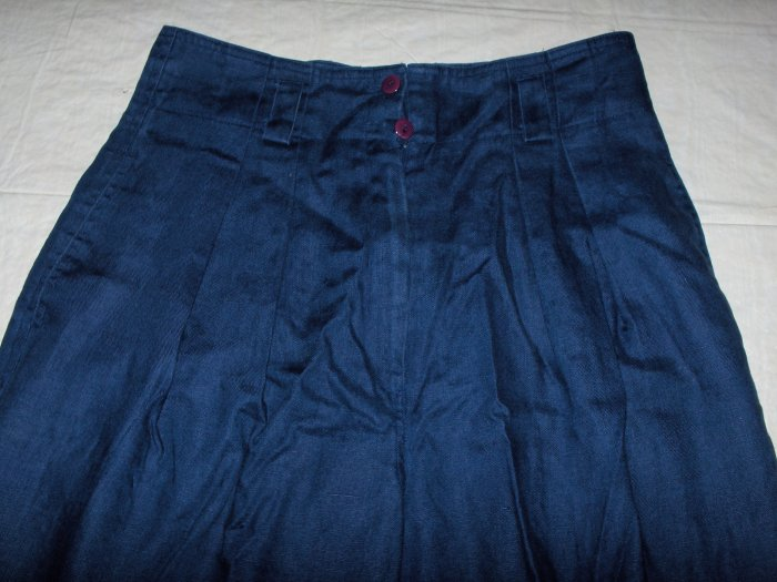 Ann Tjian-Kenar Navy Blue Linen dress pants size 10