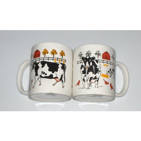 Cow mugs-set of 2 cows decor coffee mugs