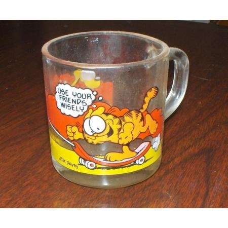 1978 McDonalds Garfield glass coffee mug