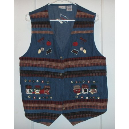 Bobbie Brooks holiday vest-denim sz LG