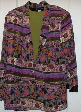 Fall Blazer size 8 w/ matching shell top sz medium