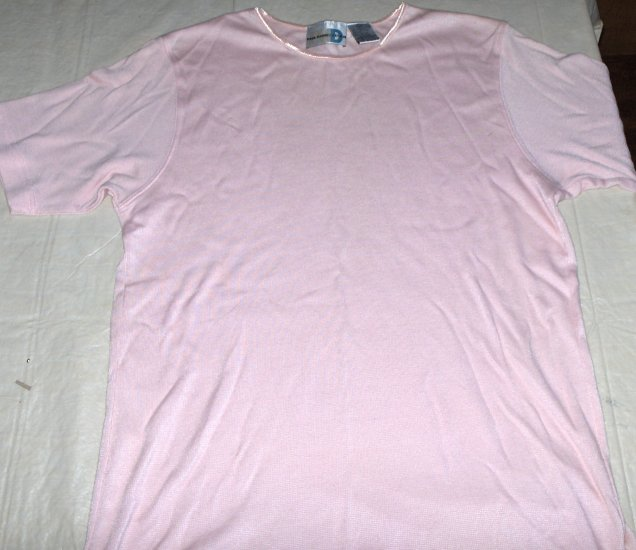 Paul Harris PINK cotton blend top womens Large