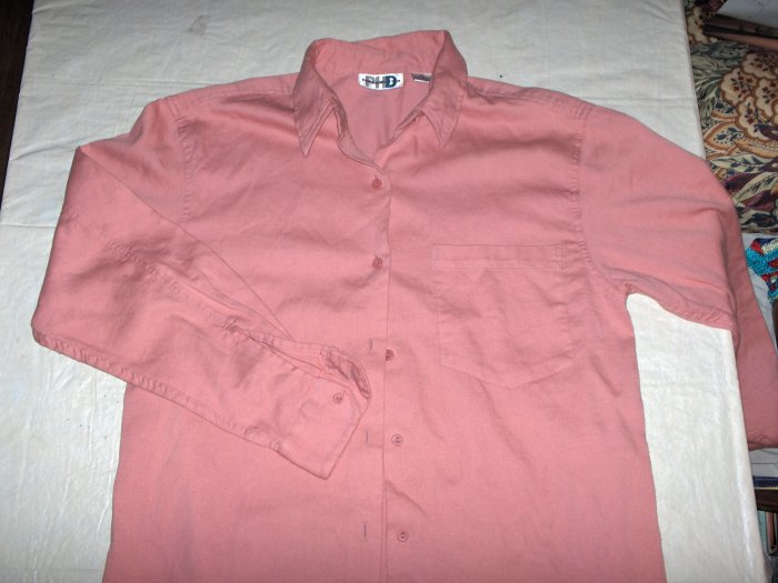 Paul Harris ROSE button down casual shirt-med to lg
