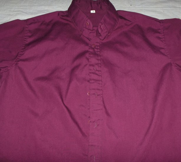 Burgundy button down casual-uniform shirt size large