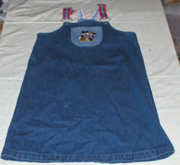 Walt Disney Kids-Denim jumper XL minny/mickey nwot 14