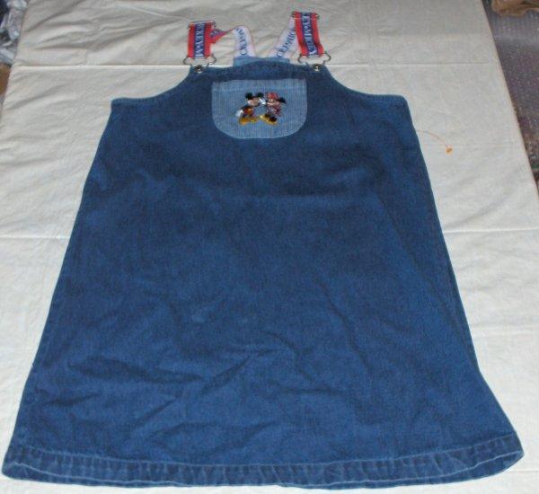 Walt Disney Kids-Denim jumper XL minny/mickey nwot 14