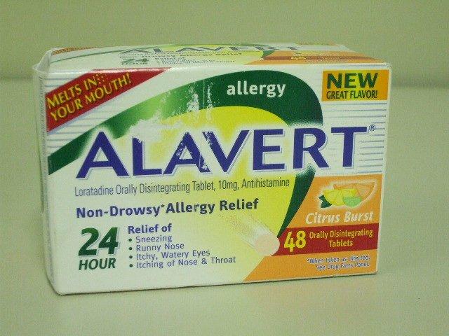 ALAVERT 24 Hour Non-Drowsy Allergy Relief - 48 Orally Disintegrating Tablets Citrus Burst