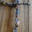 Handmade Wired Gemstone/Rock Cross