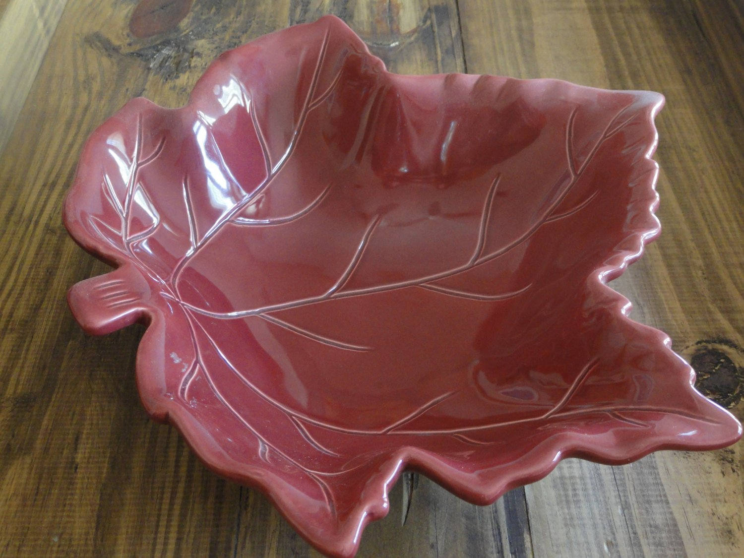 Autumn Maple Leaf Decorative Bowl by Harvest