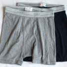 Hanes Men's 2 pr New Gray Blue Underwear Boxer Briefs S 28-30