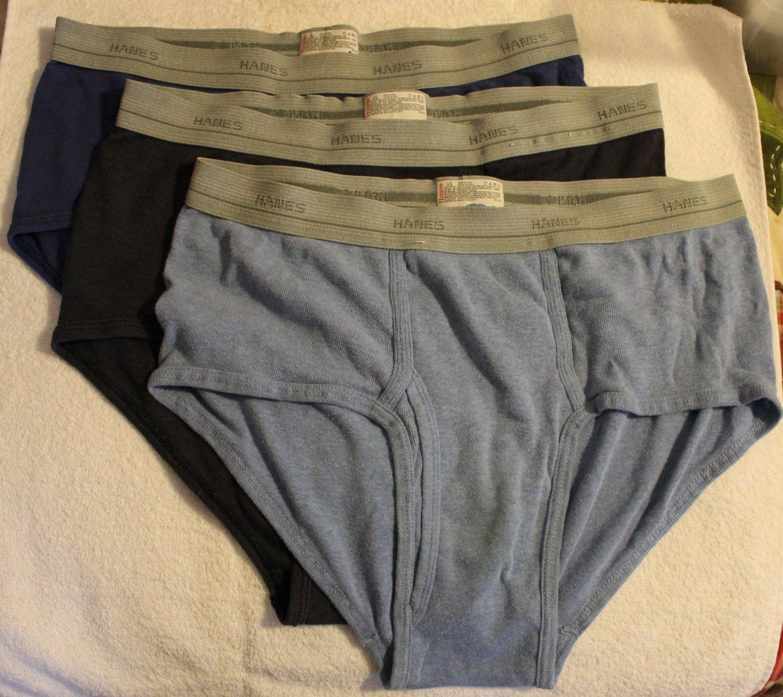 Hanes Men's 3 Pair Mens Low-rise Underwear Briefs Large 36-38