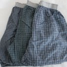 Underwear Collection 3 Pair Men's Flannel Boxers Plaid Colors Small