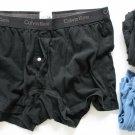 Calvin Klein  Men's 3 Pair Underwear Black/Blue Trunks Medium