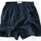 Towncraft 1 Pair Men's Flannel Boxers blue/black Plaid  Small 28-30