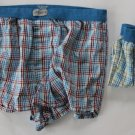 Jockey 2 Pair Men's Plaid  Boxers blue Plaid  Medium 32-34