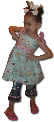 Sweet Picnic Custom Hand Painted Boutique Capri Set sz12M-8