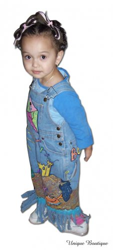 Unique Boutique Beach BUM Boutique Overalls sz. 03M-3T