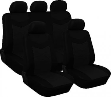 2002 2007 jeep liberty car seat covers full set black. Black Bedroom Furniture Sets. Home Design Ideas