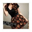 Black and Brown Floral Dress XXS-S
