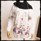 Dress Tunic Blouse Birds and Flowers (size S-M)