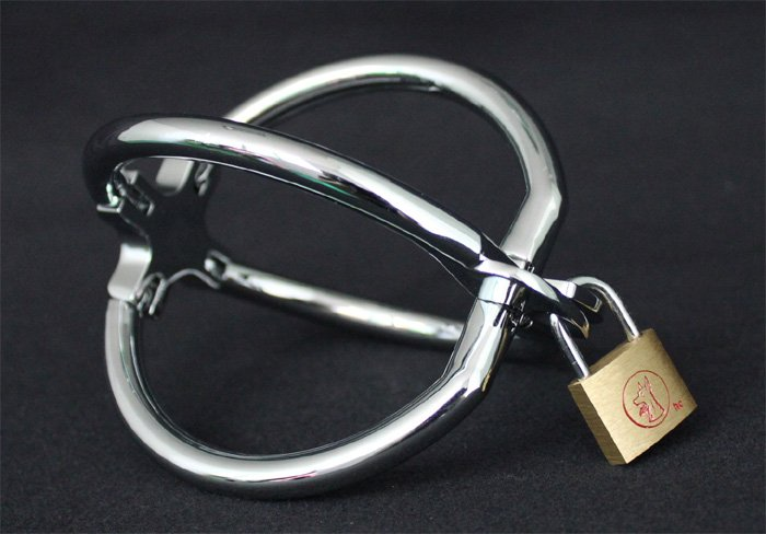 Ellipse Cross Cuffs Toys Stainless Steel