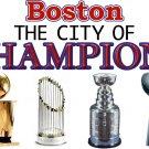 "Large White ""Boston - City of Champions"" T-shirt"