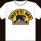 "XX-Large White ""Bite Me Burrows"" Boston Bruins T-shirt"