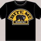 """Large Black """"Bite Me Burrows"""" Boston Bruins T-shirt"""