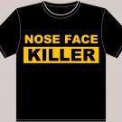 "Small Black Brad Marchand ""Nose Face Killer"" Boston Bruins T-shirt"