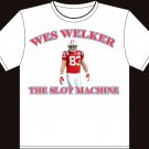 "Large White ""Wes Welker - The Slot Machine"" New England Patriots T-shirt"