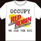"Medium - White - ""Occupy Red Robin - We are the 83%"" South Park Wall Street T-shirt"