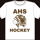 "XXL - White - ""AHS Hockey"" Agawam Hockey T-shirt"