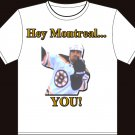"""Large - White - """"Hey Montreal"""" Andrew Ference Boston Bruins T-shirt"""