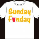 "Small - White - ""Sunday Funday"" T-shirt"