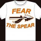 "Youth Medium White ""Fear The Spear"" Agawam High School Football T-shirt"