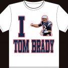 "Large - White - ""I heart Tom Brady"" Tom brady T-shirt New England Patriots"