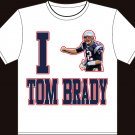 "XXL - White - ""I heart Tom Brady"" Tom brady T-shirt New England Patriots"