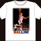 "Large - White - ""BALLIN!"" Jeremy Lin T-shirt New York Knicks"