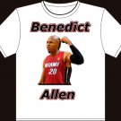 "Small - White - ""Benedict Allen"" Boston Celtics T-shirt"