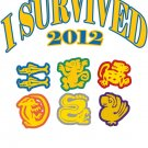 "Small - White - ""I Survived 2012 - Team Logos"" T-shirt"