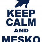 "Medium - White - ""KEEP CALM AND MESKO ON"" Zoltan Mesko T-shirt New England Patriots"