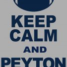 "XXXL - Ash Gray - ""KEEP CALM AND PEYTON ON"" Peyton Manning T-shirt Denver Broncos"