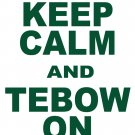 """XXL - White - """"KEEP CALM AND TEBOW ON"""" Tim Tebow T-shirt New York Jets"""