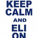 "Medium - White - ""KEEP CALM AND ELI ON"" Eli Manning T-shirt New York Giants"
