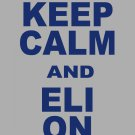 "Small - Ash Gray - ""KEEP CALM AND ELI ON"" Eli Manning T-shirt New York Giants"