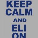 "XXL - Ash Gray - ""KEEP CALM AND ELI ON"" Eli Manning T-shirt New York Giants"