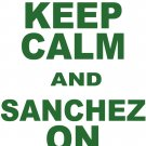 "Medium - White - ""KEEP CALM AND SANCHEZ ON"" Mark Sanchez T-shirt New York Jets"