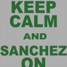 "XXL - Ash Gray - ""KEEP CALM AND SANCHEZ ON"" Mark Sanchez T-shirt New York Jets"