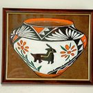 Collector's Leather Vase Painting  of cultural period art #127
